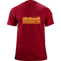 Original Washington DC Skyline Football Team Colors T-Shirt - $19.99