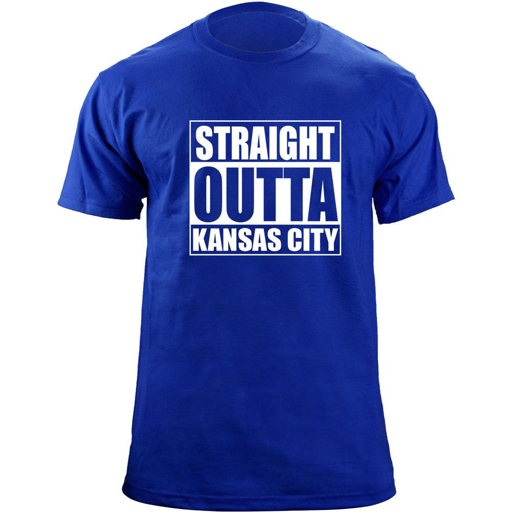 Original Funny Straight Outta Kansas City Baseball Team Colors T-Shirt image 1