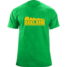 Original Oakland California Skyline Skyline Baseball Team Colors T-Shirt - $19.99