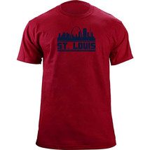 Original St Louis Missouri Skyline Skyline Baseball Team Colors T-Shirt - $19.99