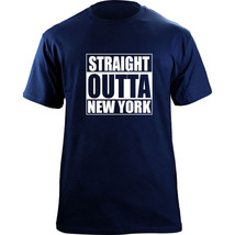 Original Funny Straight Outta New York City New York Baseball Team Color... - $19.99