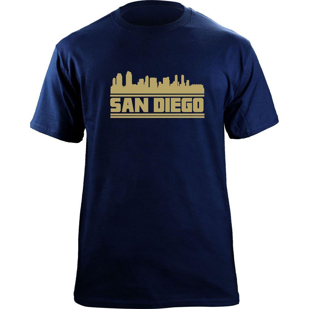 Original San Diego California Skyline Skyline Baseball Team Colors T-Shirt