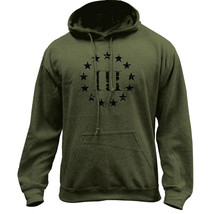 Distressed 3 Percenter Patriot Pullover Hoodie Sweatshirt - $29.99