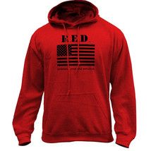 Original RED Friday Flag Remember Everyone Deployed Pullover Hoodie Sweatshirt - $29.99