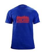 Original Chicago Illinois 2016 Baseball Champions Skyline Team Colors T-... - $19.99
