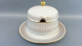 Hutschenreuther Hohenberg CM Olivia China Covered Jar Bowl Germany Gold ... - $23.99