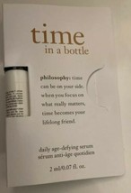 New Philosophy TIME IN A BOTTLE 3 Ml/0.07 Fl. Oz. Daily age defying serum - $4.95