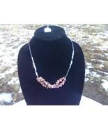 Necklace Rhodonite and Hematite - $12.00