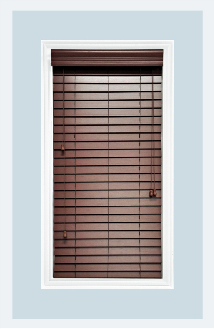 Custom made chestnut 2 faux wood horizontal window for 18 inch window blinds