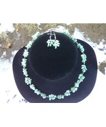 """Amazonite Necklace 18""""  with Earrings - $20.00"""