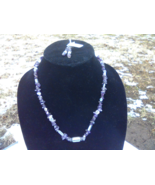 """Amethyst Chip Necklace 20"""" with Earrings - $20.00"""