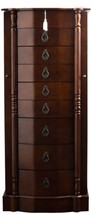 Jewelry Armoire 8 Drawer Mirror Wood Locking Tr... - $278.40