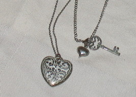Doubled Chain Key to My heart Necklace - $13.01