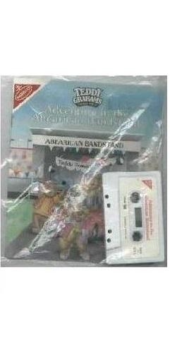 TEDDY GRAHAMS beanie baby bear + book & tape set