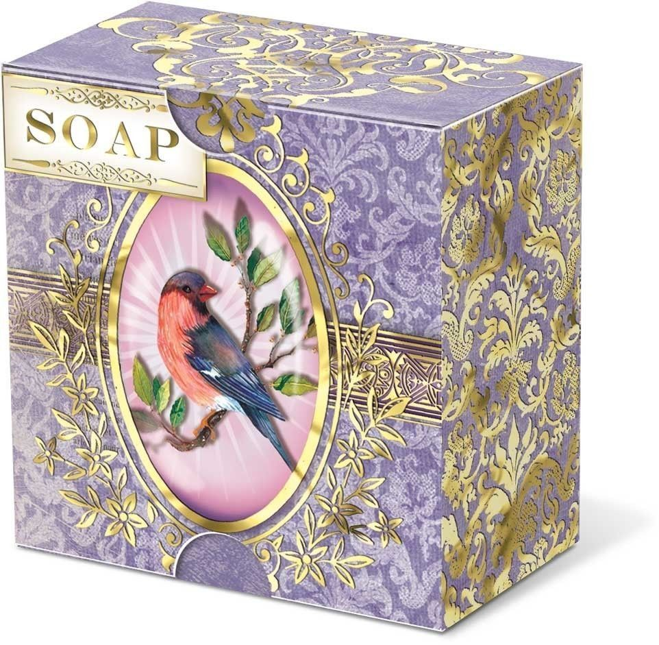 Punch Studio Bird Cameo Verbena Scent Paper Wrapped Boxed Soap