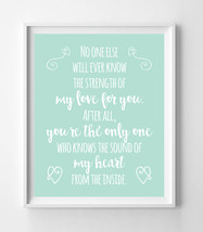 The Sound of My Heart from the Inside Nursery 8x10 Wall Art Decor PRINT Mint - $7.50