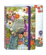 Punch Studio Peacock and Flowers Soft Cover Bungee Journal - £9.22 GBP