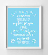 The Sound of My Heart from the Inside Nursery 8x10 Wall Art Decor PRINT Blue - $7.50