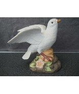 Vintage White Porcelain Dove figurine Statue Made in Mexico Handpainted #B - $24.99