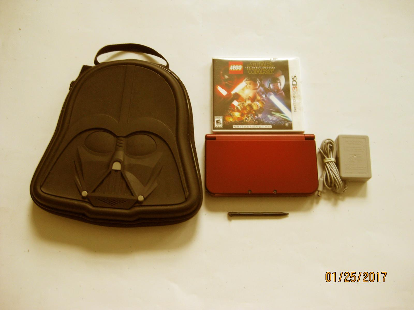 Primary image for Red Nintendo New 3ds xl w Star Wars & More!!!