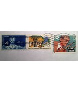 Three Great Vintage Stamps! Abe Lincoln, Glen Miller, and 1st Civil Sett... - $1.00
