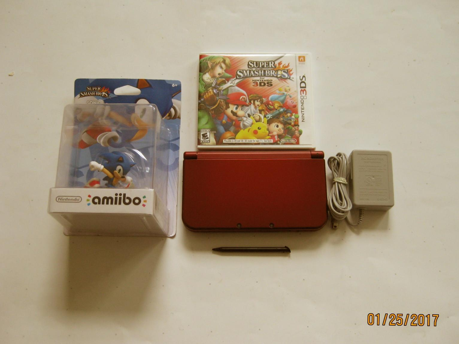 Primary image for Red Nintendo New 3ds xl w Suprt Smash Bros & More!!!