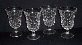 "*4 Vintage Clear Fostoria American Footed 5 1/2"" Sherbet/Water Goblets - $28.00"