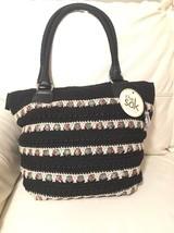 NEW WITH TAGS Women's Sak Black Crochet Purse S... - $26.87