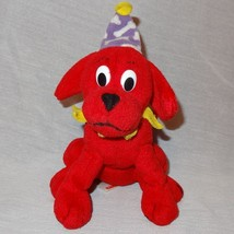 """Clifford Big Red Dog Party Hat Scholastic Plush Stuffed Animal  6"""" Toy - $15.78"""