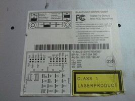 4B0 035 195 J Audi Symphony II Radio CD Cassette MP3 OEM Double DIN