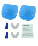 2 X Stop Snoring Mouthpiece Apnea Aid MouthGuard Sleep Bruxism Snore Gua... - $10.99