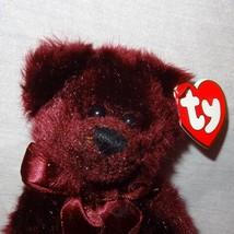 "Teddy Bear Beargundy Burgundy 1993 Ty Attic Treasures Plush Stuffed Animal 8"" - $9.99"