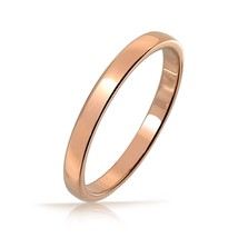 2mm Tungsten Wedding Band Rose-Gold Plated. Siz... - $24.95