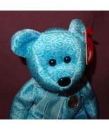 "Teddy Bear Classy 2001 Ty Beanie Babies Plush Stuffed Animal 6"" Blue - $9.99"