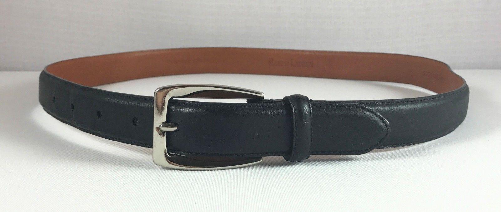 Womens Ralph Lauren Black Genuine Leather Belt Size M Medium