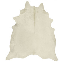 Premium Quality Brazilian Rodeo Cowhide Rug White/ Ivory XXL size Approx... - $539.99