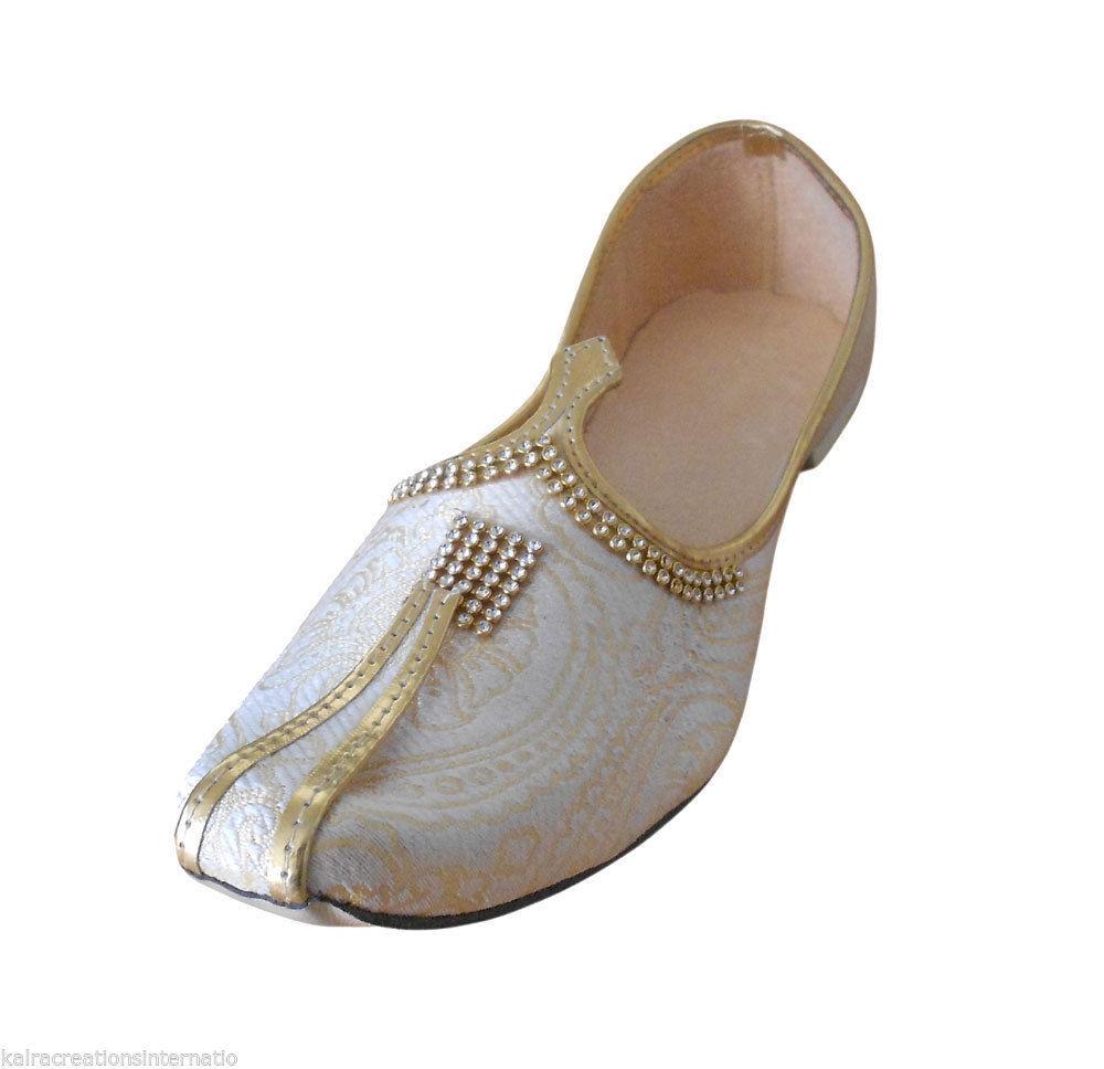 90eec0b6d37fd ... Traditional Indian Wedding Men Shoes Khussa Handmade Mojari Flip-Flops  US 7 ...