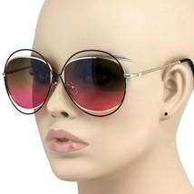 CLASSIC VINTAGE RETRO Style SUN GLASSES Double Circle Black & Gold Fashi... - $8.86+