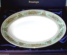"Wedgwood Prestige COLUMBIA SAGE Green Oval Serving Platter 13.75"" $490 N... - $164.90"