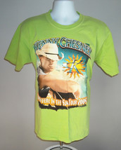 Mens 2005 Kenny Chesney T Shirt Large Bright Green Somewhere In The Sun Tour - $21.73