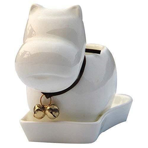 Creative Ceramics Cartoon Bell Hippo Garden Plants Flower Pots Decoration - $28.84