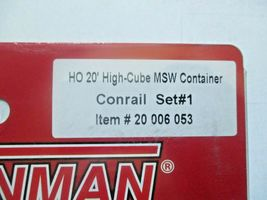 Atlas # 20006053 Conrail Set #1 20' High-Cube MSW Container (HO) image 3