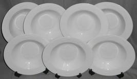Set (7) American Atelier AUTUMN LEAF PATTERN Rimmed Soup Bowls NICE! - $63.35