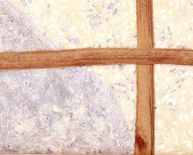 Winter from the Window: Quilted Art Wall Hanging