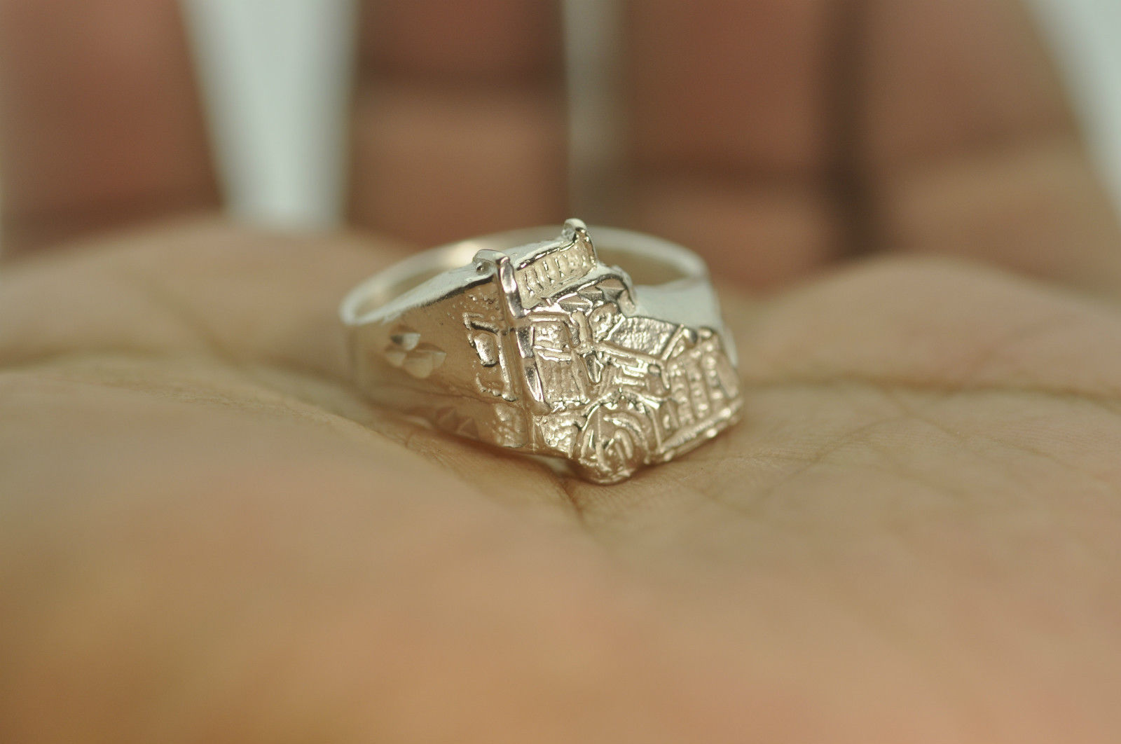 Pick Size New 925 Sterling Silver 18 Wheeler Truck Driver Ring Jewelry Vehicle