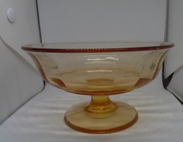 Vintage Pink Depression Glass Footed Compote Panel - $5.94