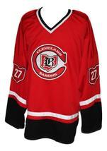 Custom Name # Cleveland Barons Retro Hockey Jersey New Red Meloche #27 Any Size image 3