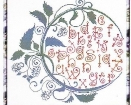 Summer Alphabet cross stitch chart Alessandra Adelaide Needleworks - $16.75