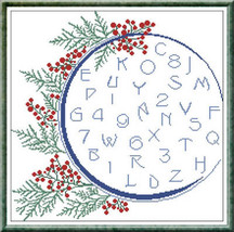 Winter Alphabet cross stitch chart Alessandra Adelaide Needleworks - $16.75