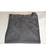 LOUIS RAPHEL Dress Pants 36 32 Charcoal Gray Cuff Pleated Front Very Nice - $34.66